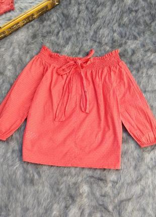 Хлопковая блуза на плечи primark3 фото