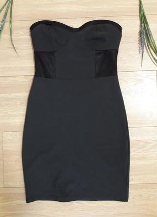 Короткое темно-серое платье bershka