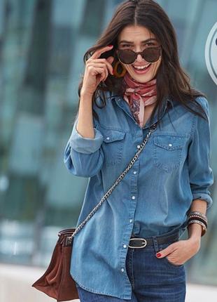 Модная джинсовая рубашка gap. xs