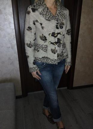 Италия,👑 шерстяной  пиджак-кардиган-пальто-куртка(кофта, блейзер) ,супер качество