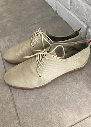 Кожаные ботинки туфли кеды