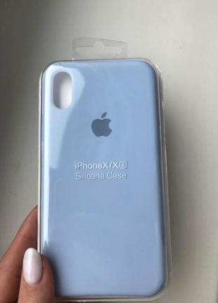Новый силиконовый чехол на iphone x/xs