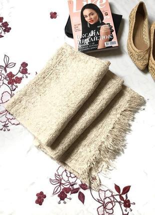 Zara accessories брендовый оригинальный теплый шарф