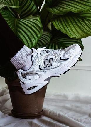New balance 530 white белые женские кроссовки наложенный платёж купить2 фото