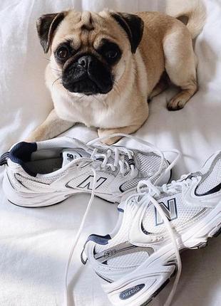 New balance 530 white белые женские кроссовки наложенный платёж купить