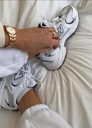 New balance 530 white белые женские кроссовки наложенный платёж купить4 фото