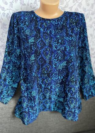 Очень красивая блуза в фиолетово-синих тонах