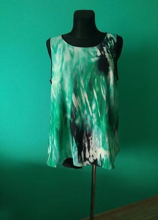 Удлиненная майка блуза бирюза