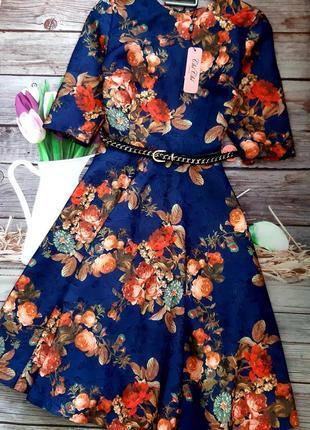 Стильное новое платье миди