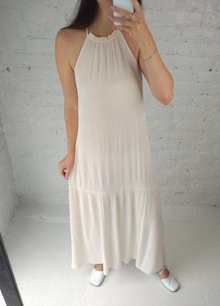 Платье-макси кремового цвета h&m