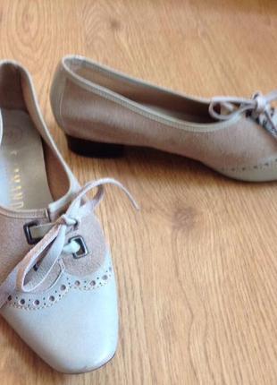 Фирменные кожаные туфли 24-24,5см