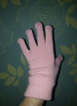 Перчатки нежно-розового цвета ,германия