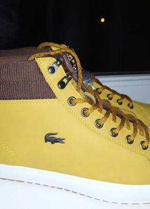 Брендовые зимние ботинки lacoste