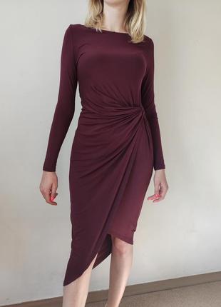 Шикарное платье бордо от h&m