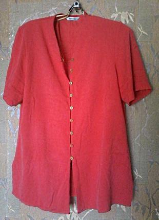 Легкая вискозная красивая блузка рубашка berkertex, размер 16