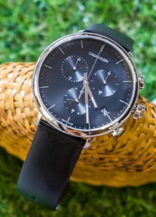 - 50% | мужские швейцарские часы хронограф calvin klein k8m271 (оригинальные, с биркой)