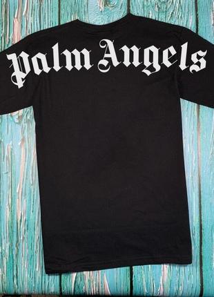 Футболка черная palm angels back • палм анджелс футболка•ориг бирки