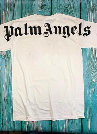 Футболка белая palm angels back • палм анджелс футболка•ориг бирки