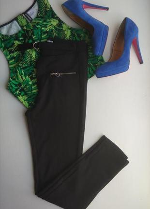 Леггинсы легинсы брюки штаны чёрные высокая талия с поясом tally weijl 36 размер s