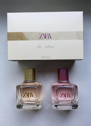 Zara  в наборі 2 штуки woman gold/woman rose gold