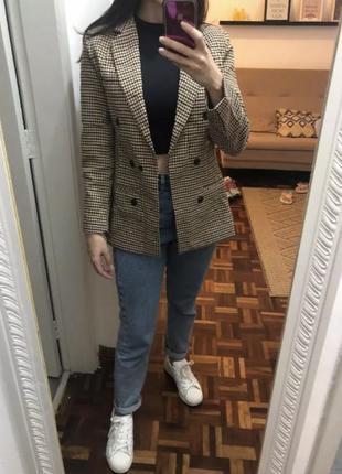 Пиджак в гусиную лапку xs-s