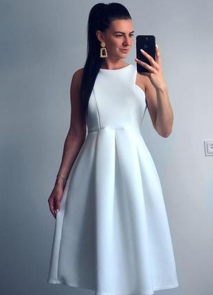 Платье миди пышное