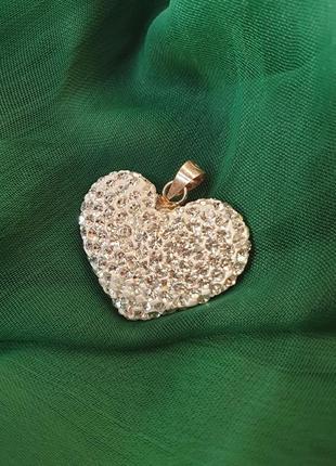 Кулон сердце 925