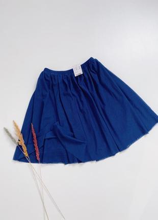 Пышная юбка двойная серка на подкладе