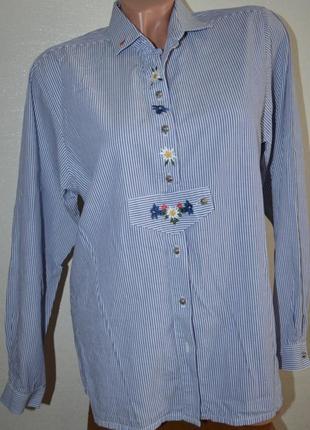 Нарядная,деловая рубашка с вышивкой от hammerschmid