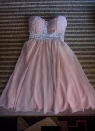 Вечернее шифоновое платье, выпускное на выпускной нарядное