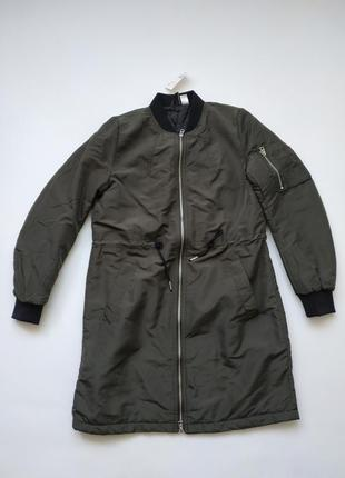 Демисезонная длинная куртка h&m