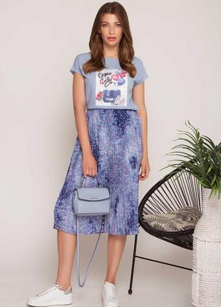 Комплект юбка плиссе и футболка