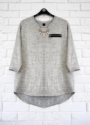 Стильный легкий свитерок с золотистым отливом tu uk16 новый