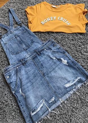 Стильный джинсовый сарафан от h&m