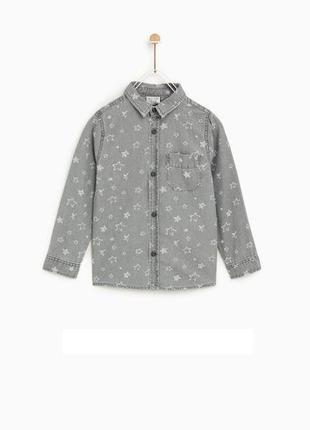 Джинсовая рубашка зара zara, новая с биркой по скидке!