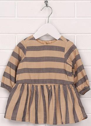 Платье h&m для девочки 056 см (1-2 months) коричневый  60451