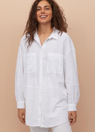 Рубашка из смесового льна