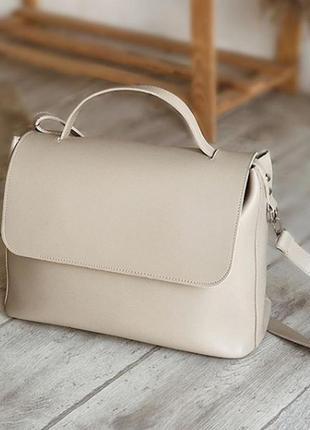 Вместительная бежевая сумка-шоппер. большая удобная сумка короткая и длинные ручки. цвета