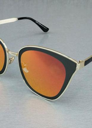 Jimmy choo очки женские солнцезащитные стильные оранжевые зеркальные