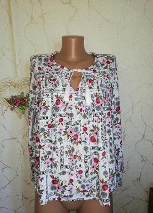 Блуза m&s 12р.в цветочный принт
