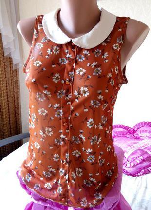 Распродажа! шифоновая блузка с цветочным принтом atmosphere