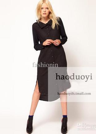 Стильное платье рубашка из натуральной ткани