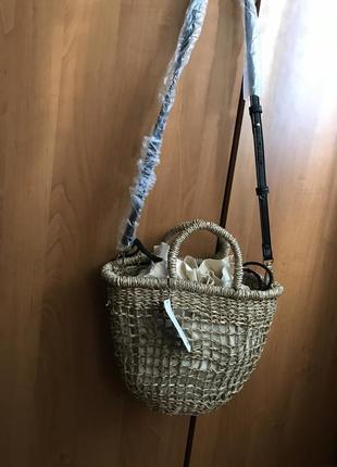 Сумка, сумочка плетённая через плечо