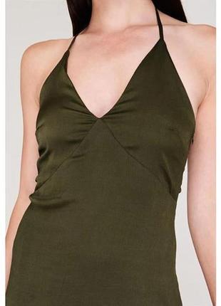 Фирменное женское платье firetrap роскошное цвета хаки англия