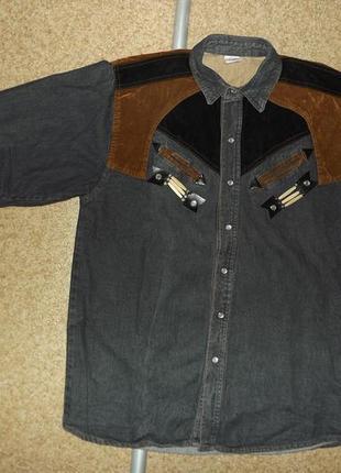 Винтажная ковбойская рубашка