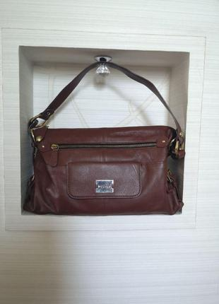 Кожаная удобная сумка  бренда люкс  modalu