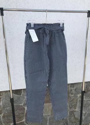 Котоновые штаны с высокой посадкой