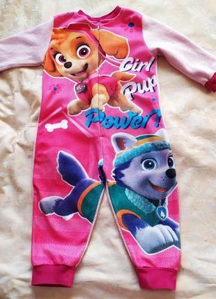 Детский человечек комбинезон пижама щенячий патруль