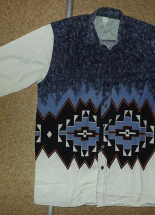 Винтажная ковбойская рубашка в стиле навахо