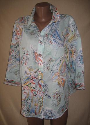 Льняная блуза chico s р-р3